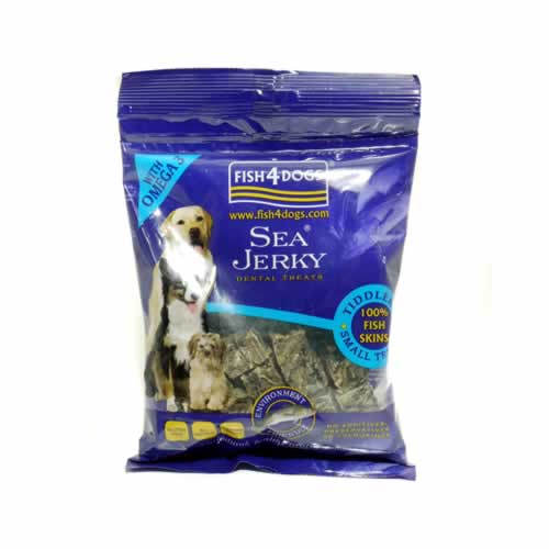 Fish 4 dogs sea jerky sea tiddlers 100g ron 39 s pets supplies for Fish for dogs